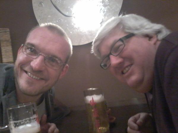 Having a beer with Joel